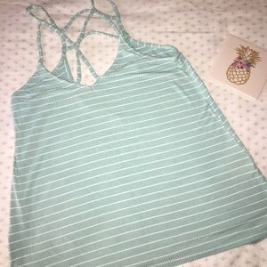 White and blue striped Hollister Tank Top